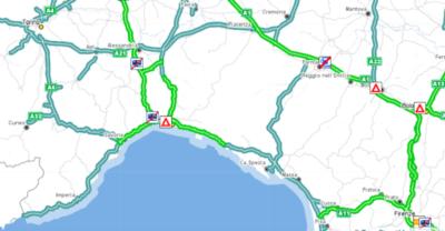 Il traffico per Genova in macchina