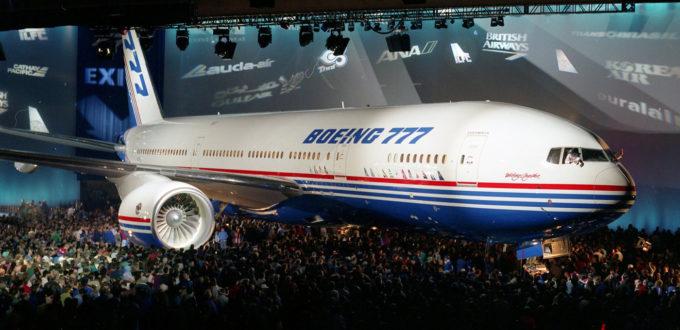 Il lancio del 777 a Everett