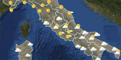 Le previsioni meteo per venerdì 21 settembre