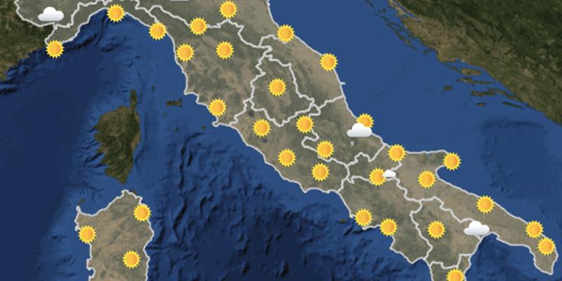 Le previsioni meteo per domani, mercoledì 26 settembre