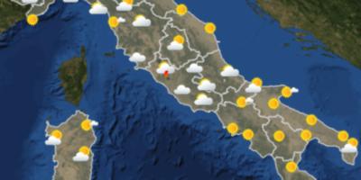 Le previsioni meteo per lunedì 3 settembre