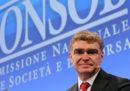 Si è dimesso il presidente della Consob Mario Nava