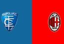 Empoli-Milan in streaming e in diretta TV