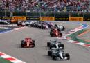 L'ordine di arrivo del Gran Premio di Russia di Formula 1