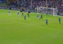 Il gol di tacco di Fabio Quagliarella in Sampdoria-Napoli