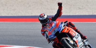 Jorge Lorenzo partirà in pole position nel Gran Premio di MotoGP di San Marino, sul circuito di Misano