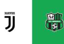 Juventus-Sassuolo in streaming e in diretta TV