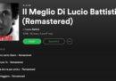 """Infine è arrivato un """"best of"""" di Lucio Battisti su Spotify"""
