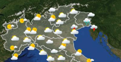 Le previsioni meteo per sabato 22 settembre