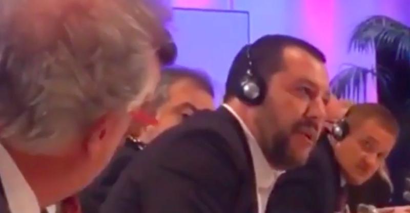Risultati immagini per Salvini e il ministro degli Esteri del Lussemburgo