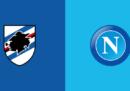 Sampdoria-Napoli in streaming e in diretta TV