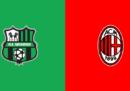 Sassuolo-Milan in streaming e in diretta TV