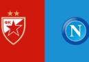 Stella Rossa-Napoli di Champions League in streaming e in diretta TV