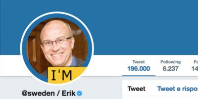 Sta per chiudere il profilo Twitter gestito ogni settimana da uno svedese diverso