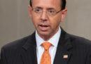 Il viceprocuratore statunitense Rod J. Rosenstein avrebbe annunciato le sue dimissioni, sostengono diversi giornali americani