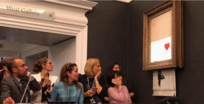 Un quadro di Banksy si è autodistrutto dopo essere stato venduto per un milione di sterline