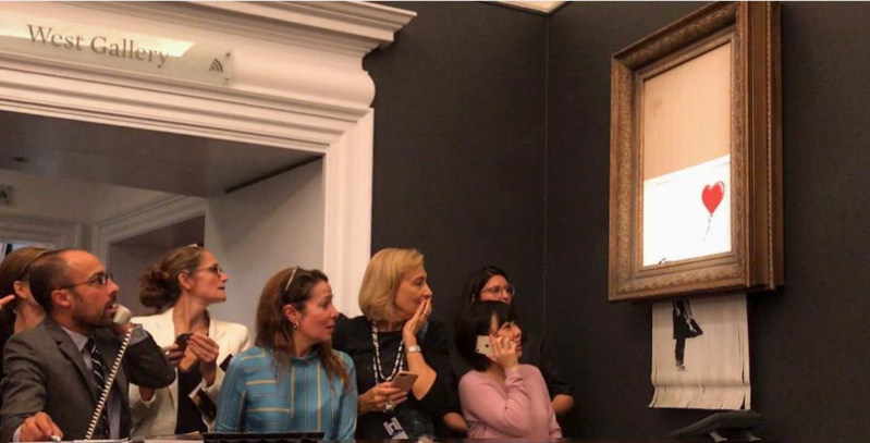 Banksy, spiega in video quadro distrutto