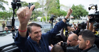 Jair Bolsonaro ha vinto il primo turno delle presidenziali in Brasile
