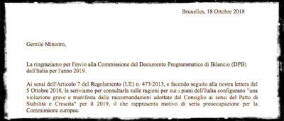 Cosa dice la lettera con cui la Commissione Europea critica la manovra del governo