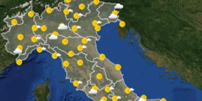 Le previsioni meteo per venerdì 19 ottobre