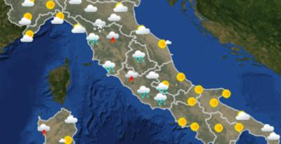Le previsioni meteo di martedì 30 ottobre