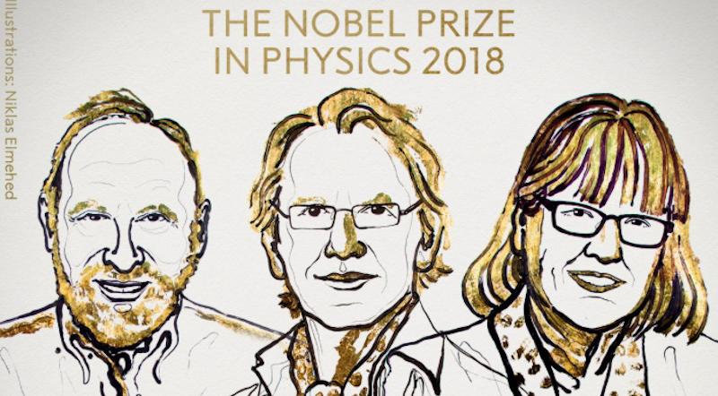 Nobel per la fisica ad Askin, Mourou e Strickland