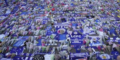 Il memoriale per il proprietario del Leicester City