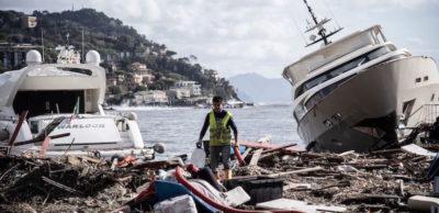 La distruzione del porto di Rapallo