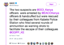 In Kenya dei poliziotti hanno aiutato a fuggire due colleghi che erano stati arrestati per corruzione