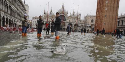 Venezia è ancora allagata