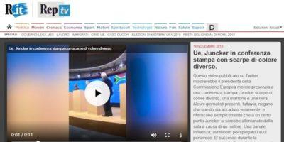"""La bufala sulle """"scarpe diverse"""" di Jean-Claude Juncker"""