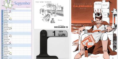 Calendari belli, fuori dallo smartphone