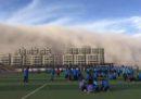 Le foto di una tempesta di sabbia in Cina