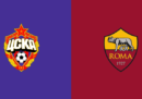 CSKA Mosca-Roma di Champions League in streaming e in diretta TV