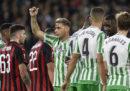 Il Milan ha pareggiato 1-1 con il Betis Siviglia nel quarto turno dei gironi di Europa League