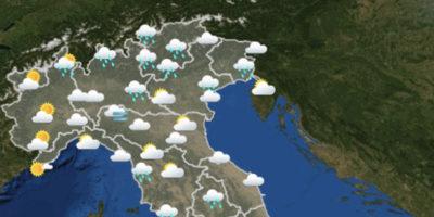 Le previsioni meteo per mercoledì 7 novembre
