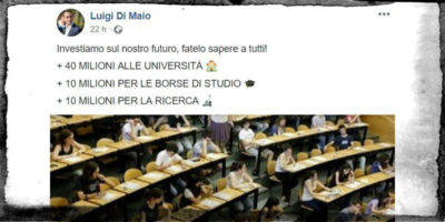 Il Movimento 5 Stelle dice che alzerà i fondi dell'università dello 0,5%