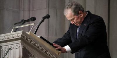 Le foto del funerale di George H. W. Bush