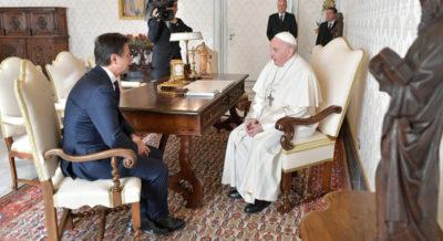 Giuseppe Conte sul suo colloquio privato col Papa