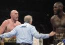 L'incontro dei pesi massimi tra Deontay Wilder e Tyson Fury è terminato con un pareggio