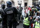 A Parigi sono state arrestate 63 persone che partecipavano alla manifestazione dei gilet gialli