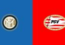Inter-PSV Eindhoven in streaming e in TV