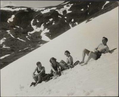 Picnic sulla neve