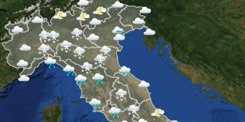 Previsioni meteo, weekend con neve in pianura e clima rigido