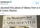A Washington DC circolano delle copie false del Washington Post