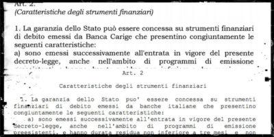 Il decreto per salvare Carige è identico al decreto sulle banche del governo Gentiloni