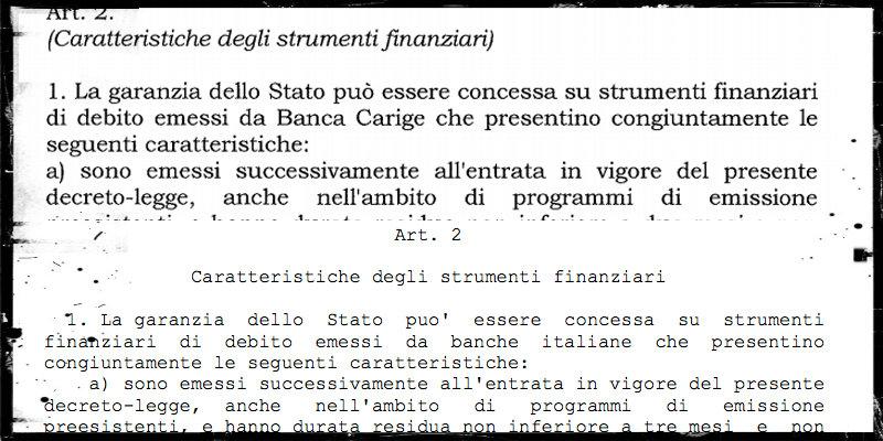 Il decreto per salvare Carige è identico al decreto sulle banche del governo Gentiloni - Il Post