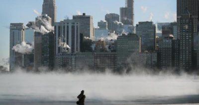 Il freddo di Chicago, fotografato