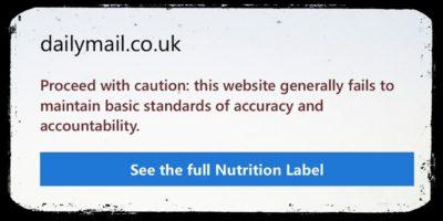 Il browser di Microsoft dice di non fidarsi del Daily Mail