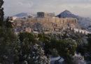 Foto di una settimana di neve in Grecia